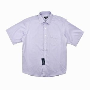 Club Room Men Short Sleeve Performance Dress Shirt